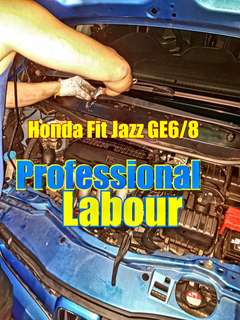 Honda fit jazz GE6/8 (ignition coil and vk20 plug change) Professional installation