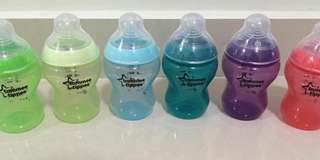 Tommee Tippee 9oz colour bottles