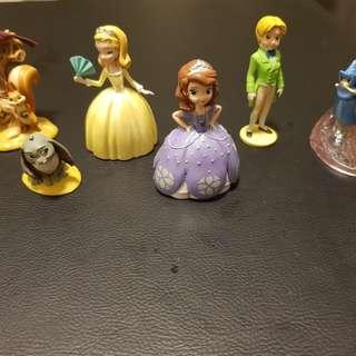 Princess Sofia cake topper figurines