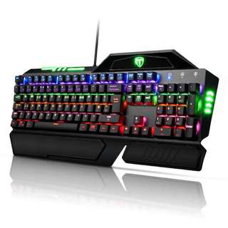 Easterntimes Tech I-800 Mechanical Gaming Keyboard 105-Key LED with Multi-color 9 Backlight