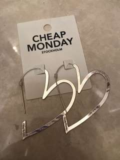Cheap Monday Heart shape earring silver 心型耳環 純銀
