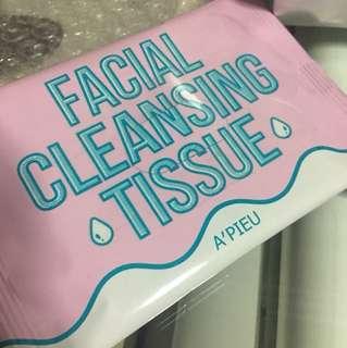 Sealed Instock apieu facial cleansing tissue