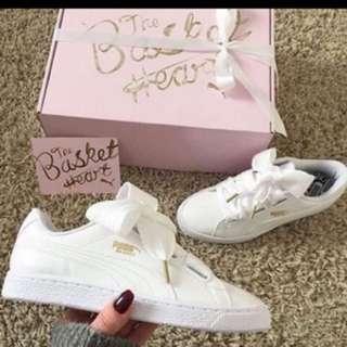 puma白色綁帶鞋(39-40)