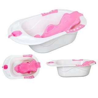Baby bath tub with support