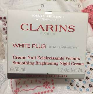 Clarins White Plus Smoothing Brightening Night Cream