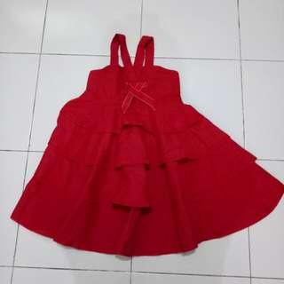 Dress red Zara