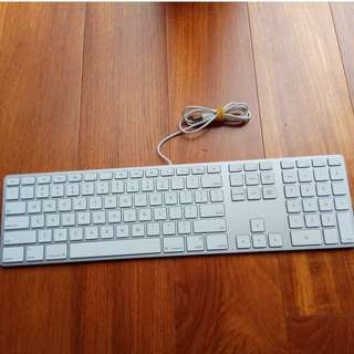 Apple A1243 usb wired mac standard keyboard with numeric