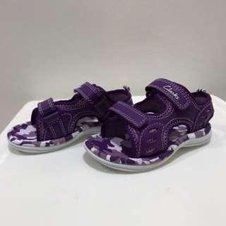 Clarks Star Joy Purple Leather Sandal size 5