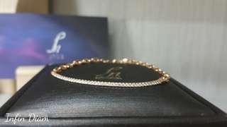 <Infin Diamond鑽石批發>18K金 鑽石鏈鐲
