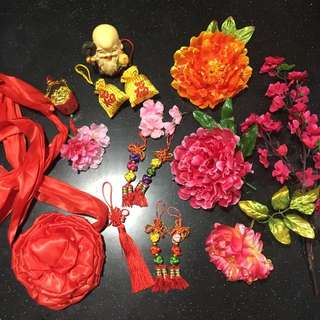 Flowers & CNY decorations
