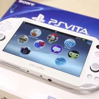 PS Vita 2nd Gen White with 32GB memory card