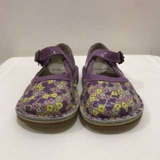 Clarks Home Gem Purple Leather Size 5