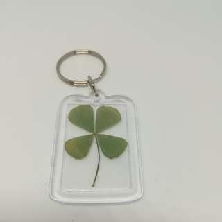 Long clover keychain
