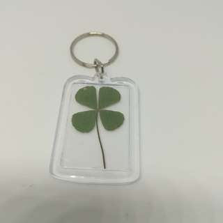 Small long clover keychain