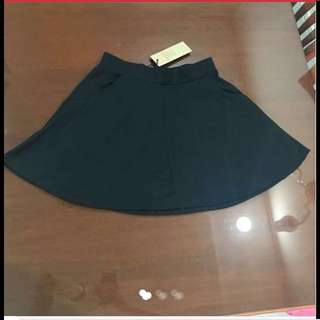 $19.95 Black Flare Skirt with 2 pockets + Elastic Waistband from Australia (Brand New with Tag)