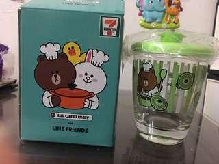 7-11 Line Friends 圓形鍋玻璃杯