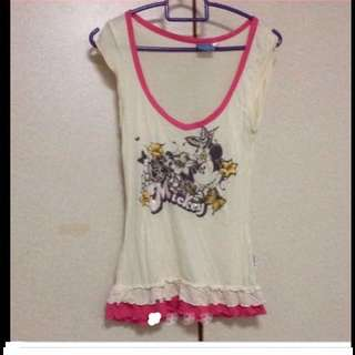 $59 Authentic Walt Disney Shinny  Sequin Micky Mouse Top (Brand New)