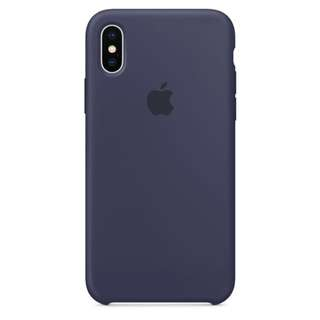 Apple iphone X silicone case - midnight blue 手機殻