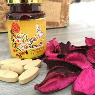 Chewable Tablet + Vitamin C By Deeja Cosmetic 🌺Readystock🌺