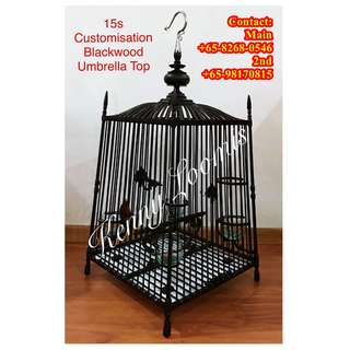 Customized Fine Quality Thai Square Cages For Jambul (Red Whiskered Bulbul)