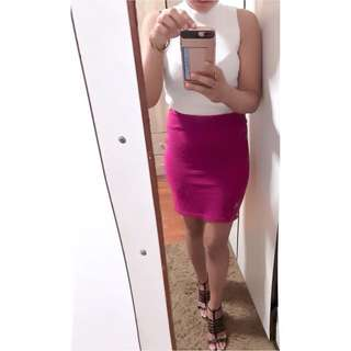 Bandage short skirt dark pink M to L (I sale my stuff,not my body!!! If got people PM me out of topic,I will report u)