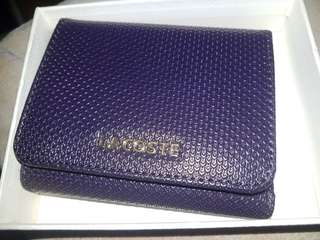 Lacoste wallet brown for ladies