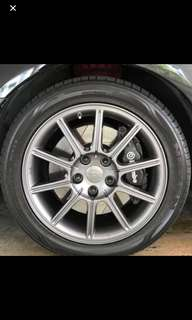 Newly sprayed Gunmetal colour Original STi rims 4pcs