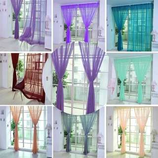 Plain / Tulle / Day Curtain / Sheer / Curtain