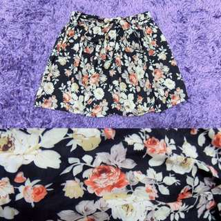 Floral Tied Shorts