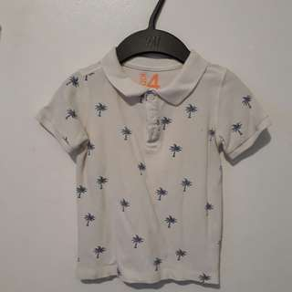 Zara White Top and Cotton On Kids Polo Shirt