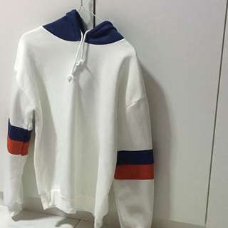 Pullover ulzzang white blue red