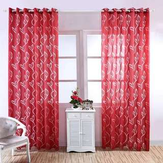 Leaf design/Bright/ Day Curtain/ Sheer / Day Curtain