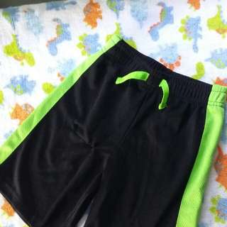 SALE! 5T Garanimals Solid Mesh Taped Short Rib (Black/Green)