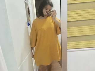 Oversized korean t-shirt dress