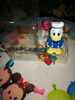 日版mini人型唐老鴨陶瓷釘書機
