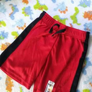 3T Garanimals Solid Mesh Taped Short Rib (Red/Black)