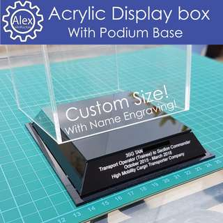 Acrylic Display Box - Professionally Customised boxes to show case your models