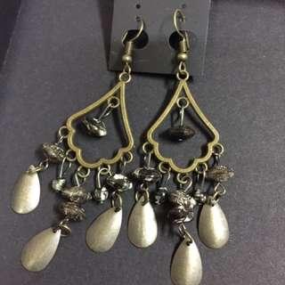 民族風 波希米亞 Vintage 雲石色 耳環 (購自泰國)
