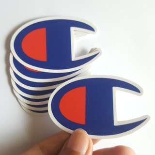 Champion sticker outdoor high quality