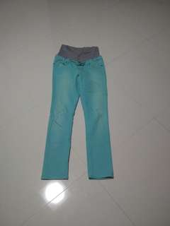 Light Blue / Turquoise Maternity Jeans