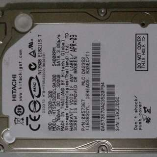 Hitachi 320gb Sata 3.0 gb/s 5400 RPM