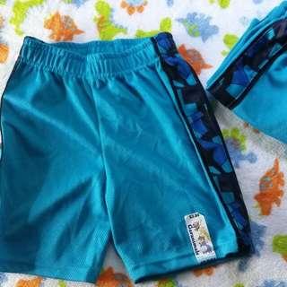 4T Garanimals Solid Mesh Taped Short (Turquoise)