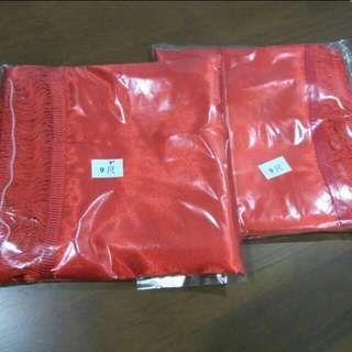 Chinese satin lace red cloth (9ft 9inch & 9ft)