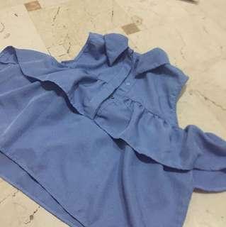Blue sabrina zara look alike
