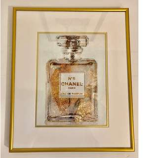 CHANEL Parfum Gold Print with Frame - Retail: $100