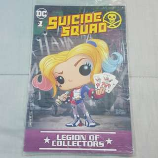 Legit Brand New Sealed DC #1 Suicide Squad Harley Quinn Funko Pop Comics Magazine Legion Of Collectors Exclusive