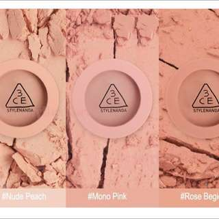 3ce mood recipe blusher assorted bnib