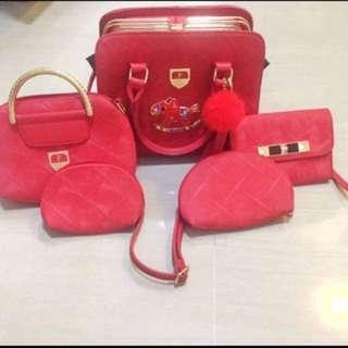 Tas furla 5in1 set / tas selempang slingbag shoulder bags pouch wallet