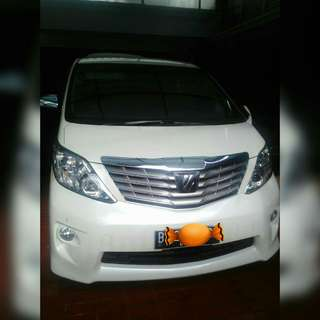 Alphard type s audioless 2011