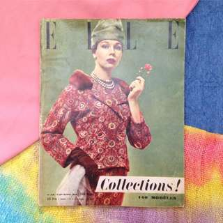 05 SEPTEMBER 1955 ELLE (FR) Vintage Fashion Magazine/ Collections Issue
